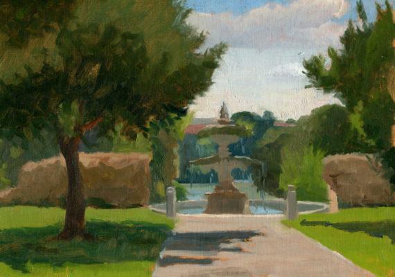 View to the Fountain, Villa Pamphili